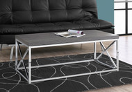 MS 3225 Grey modern coffee table with chrome metal base