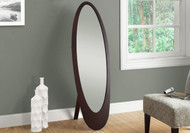 "Mirror - 59""h/ cappuccino contemporary oval frame"