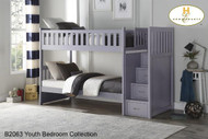 B2063 twin/ twin Step bunkbed