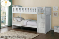 B2053 twin/ twin Step bunkbed