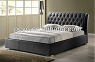Sa887 leather lift up storage bed