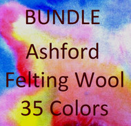 Bundle - Ashford Felting Wool 35 Colors