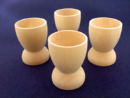 Set of 4 Wood Cups