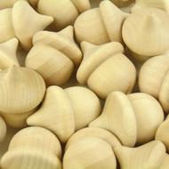 Wood Acorns (6)