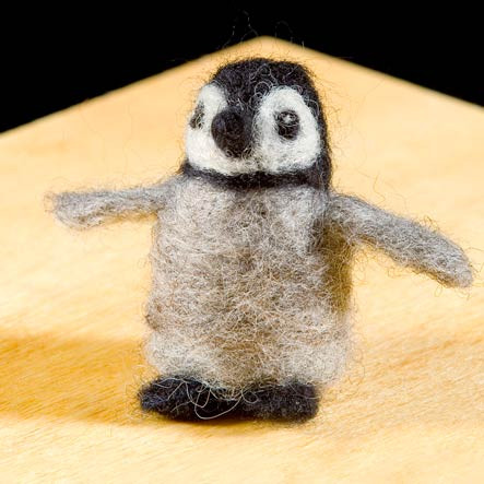 Woolpets Penguin Needle Felting Kit - Easy