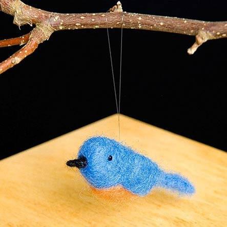 Woolpets Bluebird Needle Felting Kit - Easy