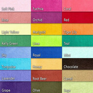 Cotton Knit Velour Color Chart