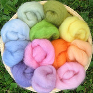 Corriedale Wool Sampler - Rainbow Pastel