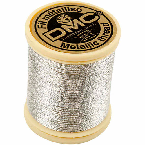 DMC Metallic Embroidery Thread - Light Silver