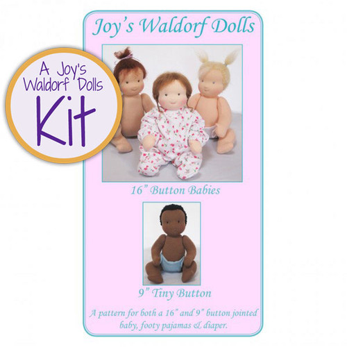 "16"" & 9"" Button Babies Doll Kit"
