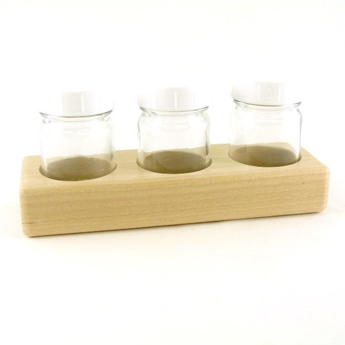 Paint Jar Holder & 3 Jars