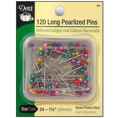 Long Pearlized Straight Pins