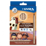 Lyra Color Giant Skin Tone Pencils - set of 12