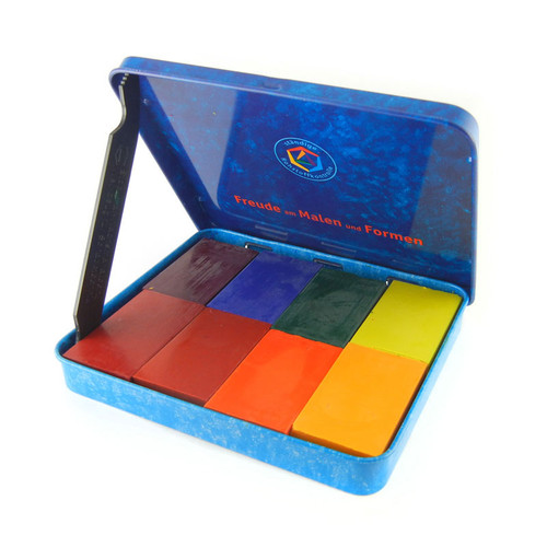 Stockmar Beeswax Crayons - 8 Colors, Block