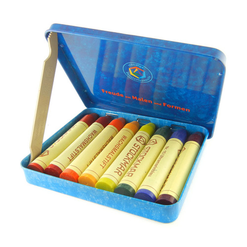 Stockmar Beeswax Crayons - 8 Colors, Stick