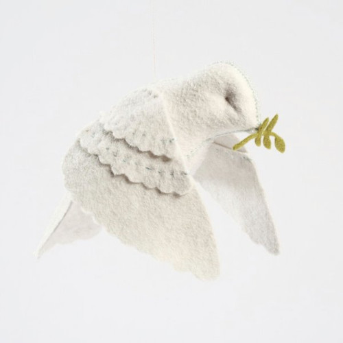 Felt Sewing Kit - White Peace Dove