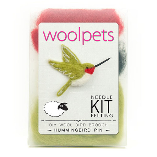 Woolpets Hummingbird Pin Needle Felting Kit