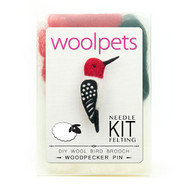 Woolpets Woodpecker Pin Needle Felting Kit