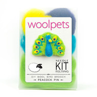 Woolpets Peacock Pin Needle Felting Kit
