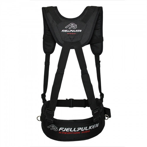 Fjellpulken Xpedition Pro Reinforced Skier Harness Black