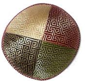 Brocade 4 Panel Geometric Design in 4 Colors Style E