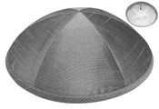 Gray Raw Silk Kippah