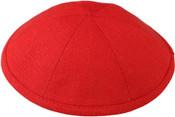 Red Linen Kippah