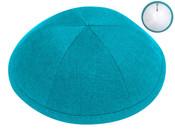 Turquoise Linen Kippah