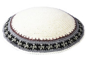 Knit Kippot 07 White