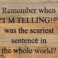 """10"""" X 10""""  """"I'm Telling"""" Wood Sign"""