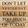 """1 0"""" X 10""""  """"Yesterday"""" Wood Sign"""