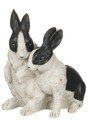 Pair of Black and White Distressed Bunnies