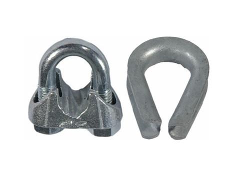 Harborware Clamp Amp Thimble Set Galvanized Steel 1 4 In