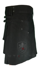 BLACKOUT modern utility kilt with ALL hardware in black.