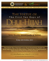 The Virtue of The First Ten Days of Dhul Hijjah by Shaykh 'AbdulQaadir al-Junaid