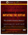 A Warning Against Imitating the Kuffar by Shaykh Ahmad al-Mazroo'i