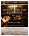 How To Attain The Immense Rewards Of The Night Of Qadr by Shaykh Saalim Baamihriz