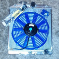 ALUMINUM 2-ROW/CORE RADIATOR+ BLUE COOLING FAN DC, DB1, DB8, DC2, EG, EK, EM, SI