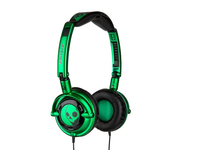 Skullcandy Lowrider Earphones Green Black