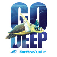 Go Deep, Sea Turtle T-shirt
