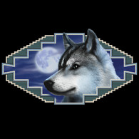 Native American Wildlife, Gray Wolf Black T-shirt