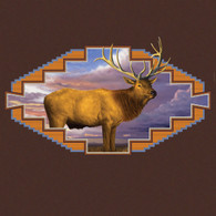 Western Elk Chocolate Hoodie
