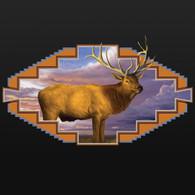 Western Elk Black Hoodie