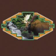 Western Moose Chocolate Hoodie