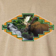 Native American Wildlife, Moose Khaki T-shirt