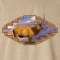 Native American Wildlife, Elk Khaki T-shirt