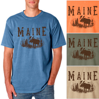 Maine Moose Men's/Adult Pigment Dyed T-shirt