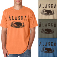 Alaska Grizzly Bear Men's/Adult Pigment Dyed T-shirt