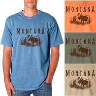 Montana Moose Men's/Adult Pigment Dyed T-shirt