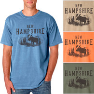 New Hampshire Moose Men's/Adult Pigment Dyed T-shirt